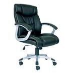 Kursi Kantor Chairman Premier Collection PC 9430 A - Leather - Kaki Aluminium - Hitam - Inden 14-30 Hari