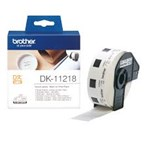 Pita Printer Brother Round Label DK-11218 - 24 x 24 mm - Roll Isi 1000 - Black on White