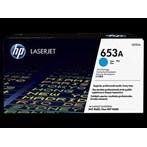 Toner Printer Cartridge HP Original LaserJet 653A - CF321A - Cyan