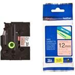 Pita Printer Brother Label Tape TZe-B31 - 12 mm - Black on Fluorescent Orange