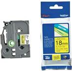 Pita Printer Brother Label Tape TZe-641 - 18 mm - Black on Yellow