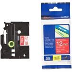 Pita Printer Brother Label Tape TZe-435 - 12 mm - White on Red