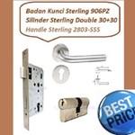 Gagang Pintu Set Sterling 2803-SSS