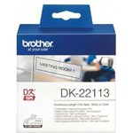 Label Printer Brother Continuous Length Tape DK-22113 - 62 mm - Black on Clear
