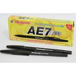 Pulpen Standart AE7 Warna Hitam 1 Box isi 12 pcs