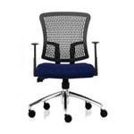 Donati Kursi Kantor Cossy 1 T AL - Oscar/Fabric - Biru