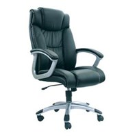 Chairman Premier Collection Kursi Kantor PC 9410 A - Leather - Kaki Aluminium - Hitam - Inden 14-30 Hari
