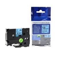 Pita Printer Brother Label Tape TZe-541 - 18 mm - Black on Blue