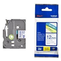 Pita Brother Label Tape TZe-233 - 12 mm - Blue on White