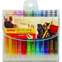 CRAYON TWIST KENKO MINI PVC BAG 12 COLOR