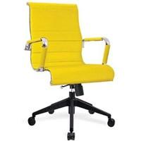 Donati Kursi Kantor Ercagio 2 N TC - Oscar/Fabric - Kuning - Indent 14 hari s/d 30 hari