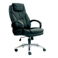 Chairman Premier Collection Kursi Kantor PC 9610 A - Leather - Kaki Aluminium - Hitam - Inden 14-30 Hari