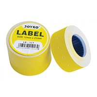 Label Harga Joyko LB-1LY (1 baris, Yellow)