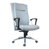 Chairman Executive Chair Kursi Kantor EC 40 BAL - Leather - Kaki Aluminium - Abu-Abu - Inden 14-30 Hari