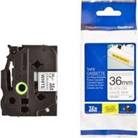 Pita Printer Brother Label Tape TZE-S261 - 36 mm - Strong Adhessive Black on White