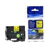 Pita Printer Brother Label Tape TZE-S641 - 18 mm - Strong Adhessive Black on Yellow