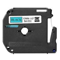 Pita Printer Brother Label Tape M-531 - 12 mm - Black on Blue