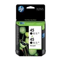 CATRIDGE PRINTER HP 45 Black Inkjet Crtg Twin Pack