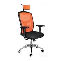 Gresco Kursi Kantor Director Mesh Chair GN 804 - Orange - Inden 7-14 Hari
