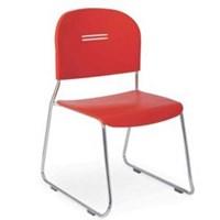 Kursi Kerja / Kursi Kantor Chitose Olive U - Merah - 1 Karton Isi 4 Pcs