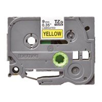 Brother Label Tape TZE-621 - 9 mm - Black On Yellow