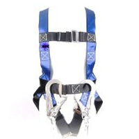 Safety Body Harness Double Lanyard Merek Go Safe With Shock Absorbent