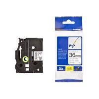Pita Printer Brother Color Untuk PT-9700/PT-9800 TZE-FX261 Pita Warna - 36mm - Hitam-Putih