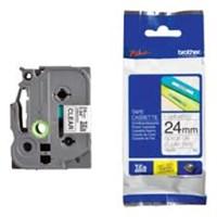Pita Printer Brother Label Tape TZE-151 - 24 mm - Black on Clear