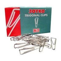 Joyko Paperclip Trigonal No. 3 - Silver - 1 Pak Isi 10 Pcs