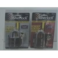 Gembok Cylinder Brass Computer Pendek Sherlock 50mm