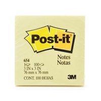Post-It Note / Sticky Note 3M 654 - 3 x 3 Inci - Kuning - 1 Set Isi 12 Pad @ 100 Lembar