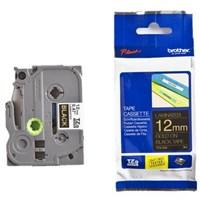 Pita Printer Brother Label Tape TZe-S621 - 12 mm - Black on Yellow