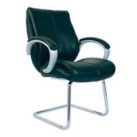 Chairman Premier Collection Kursi Kantor PC 9350 - Leather - Kaki Chrome - Hitam - Inden 14-30 Hari