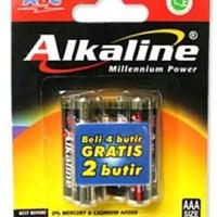 Baterai AA 1.5V; Alkaline