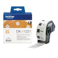 Pita Printer Brother Square Label DK-11221 - 23 x 23 mm - Roll Isi 1000 - Black on White