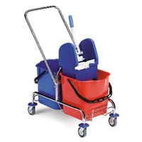 JACK double bucket CHROME trolley with wringer