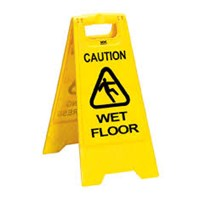 Wet floor sign 2 parts