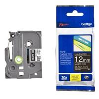 Pita Printer Brother Label Tape TZe-335 - 12 mm - White on Black