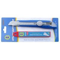 Pisau Cutter set with 10 pcs extra blade tube C-Mart CA0004-2