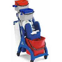 VEGA tripple bucket with trolley + wringer