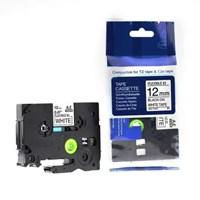 Pita Printer Brother Label Tape TZe-FX231 - 12 mm - Black on White