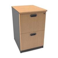 Uno Classic Filing Cabinet - 2 Laci - Beech/Grey - Inden 14-30 Hari Kerja