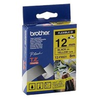Brother Label Tape TZE-FX631 Flexible - 12 mm - Black on Yellow