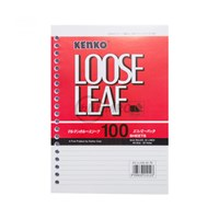 Kertas Isi File Binder ukuran A5 Kenko Loose Leaf A5-LL 100-2070 100 Sheet