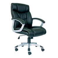 Chairman Premier Collection Kursi Kantor PC 9430 A - Leather - Kaki Aluminium - Hitam - Inden 14-30 Hari
