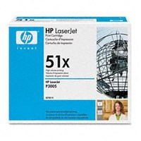 Toner printer Cartridge HP Original  LaserJet  - Q7551X - Hitam