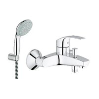 Handshower set Series NTempesta 100 II + Kran Series Eurosmart OHM Bath exposed 2015 Grohe