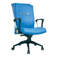 Chairman Executive Chair Kursi Kantor EC 50 BAL - Leather - Kaki Aluminium - Biru - Inden 14-30 Hari