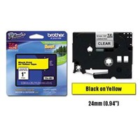 Pita Printer Brother Color TZE-651 Pita Warna - 24mm - Hitam-Kuning