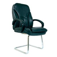 Chairman Premier Collection Kursi Kantor PC 9650 A - Leather - Kaki Chrome - Hitam - Inden 14-30 Hari